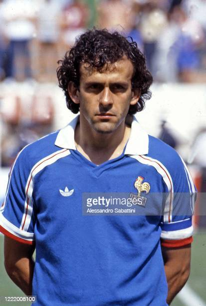 Michel Platini of France looks on during the FIFA World Cup Mexico 1986.