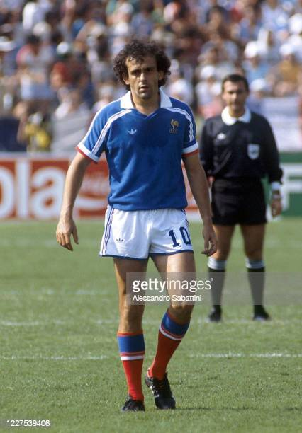 Michel Platini of France looks on during the Fifa World Cup Mexico 1986. Mexico
