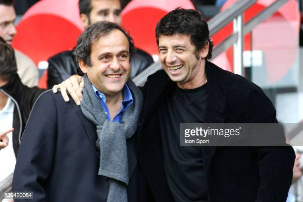 Michel PLATINI / Patick BRUEL PSG / Nantes 10eme Journee de Ligue 1
