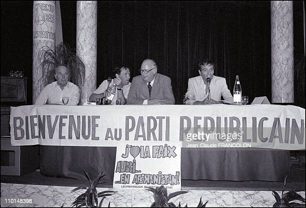 Michel Poniatowski at the Summer University of the Republican Party in Bandol France on September 07 1983