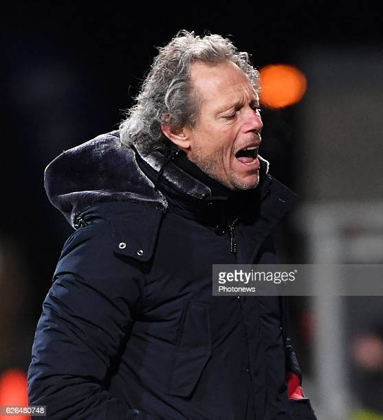 Michel Preud'homme head coach of Club Brugge disappointed pictured during Croky cup 1/8 F match between KASEupen and Club Brugge KV on November 29...