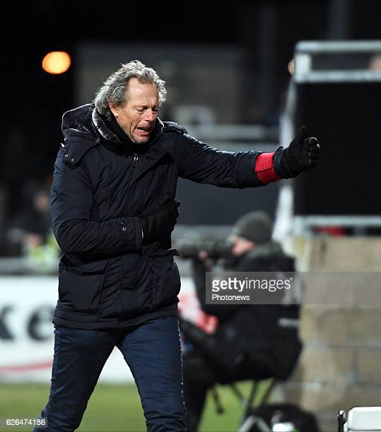 Michel Preud'homme head coach of Club Brugge pictured during Croky cup 1/8 F match between KASEupen and Club Brugge KV on November 29 2016 in Eupen...