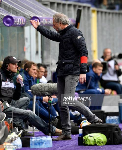 Michel Preud'homme head coach of Standard Liege disappointed pictured during the Jupiler Pro League match between RSC Anderlecht and Standard de...