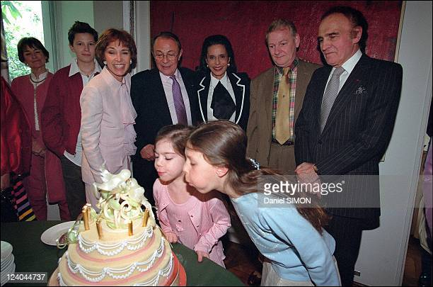 Michel Rocard and Sylvie Pelissier' s wedding reception at Mr and Mrs Pisar's home In Paris France On April 20 2002 Mr and Mrs Rocard with...