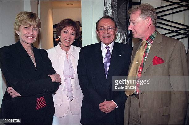 Michel Rocard and Sylvie Pelissier' s wedding reception at Mr and Mrs Pisar's home In Paris, France On April 20, 2002 - Claire Bretecher, Sylvie and...