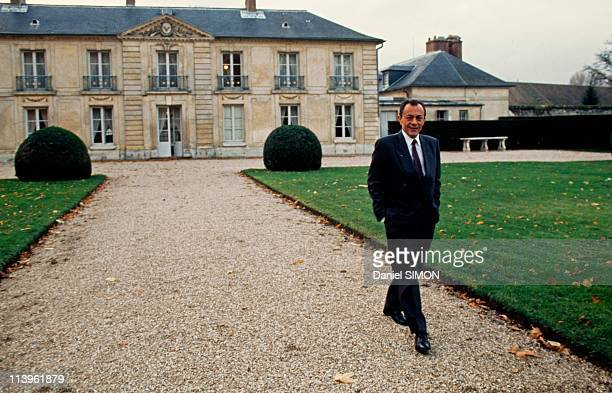 Michel Rocard at La Lanterne In Versailles France On November 18 1990French Prime Minister Michel Rocard at La Lanterne a vacation retreat for prime...