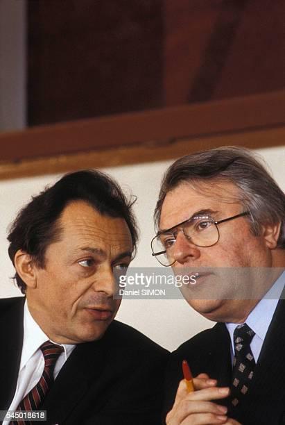 Michel Rocard et Pierre Mauroy en 1981 en France