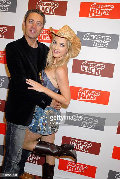 Michel Rostaing and Eve Angeli attend the M6 Music Party at the Ritz Club on December 10, 2007 in Paris, France.