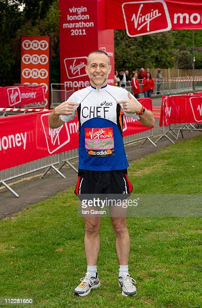 Michel Roux attends the celebrity start of the 2011 Virgin London Marathon at Blackheath on April 17 2011 in London England
