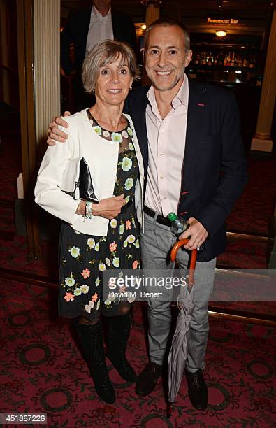 Michel Roux Jr and wife Giselle attend the press night performance of The Curious Incident Of The Dog In The NightTime at the Gielgud Theatre on July...