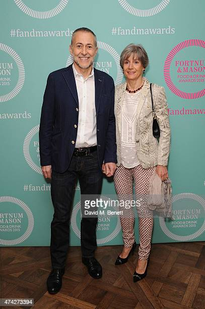 Michel Roux Junior and Giselle Roux attend the third annual Fortnum Mason Food Drink Awards 2015 on May 21 2015 in London England The awards...