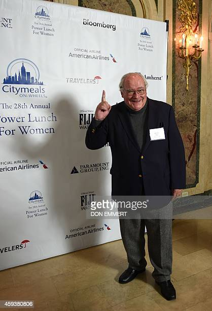 Michel Roux poses for a photo prior to the CitymealsonWheels 28th annual power lunch November 21 2014 in New York The benefit luncheon raised nearly...