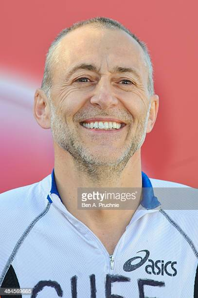 Michel Roux poses for photographs ahead of the Virgin Money London Marathon on April 13 2014 in London England