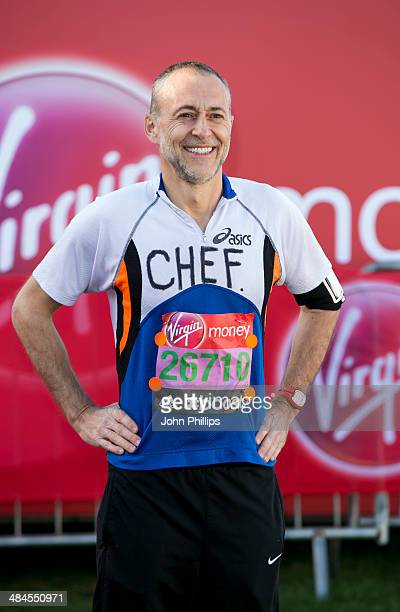 Michel Roux takes part in the 2014 London Marathon on April 13 2014 in London England