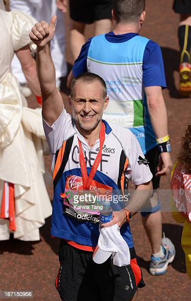 Michel Roux takes part in the Virgin London Marathon on April 21 2013 in London England