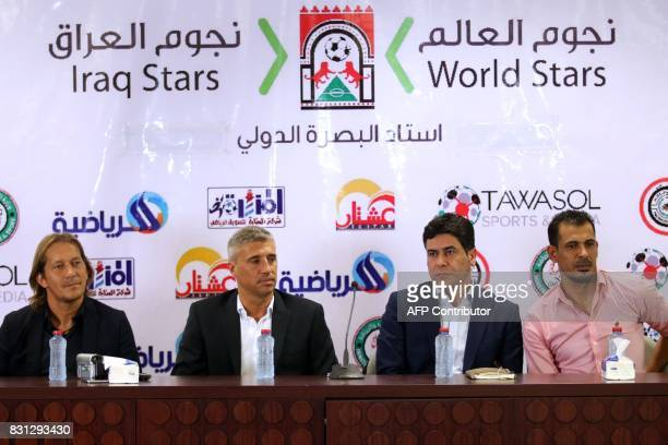 Michel Salgado retired Spanish footballer Hernan Crespo retired Argentine footballer Ahmad alMussawi spokesman for the Iraqi Sports and Youth...