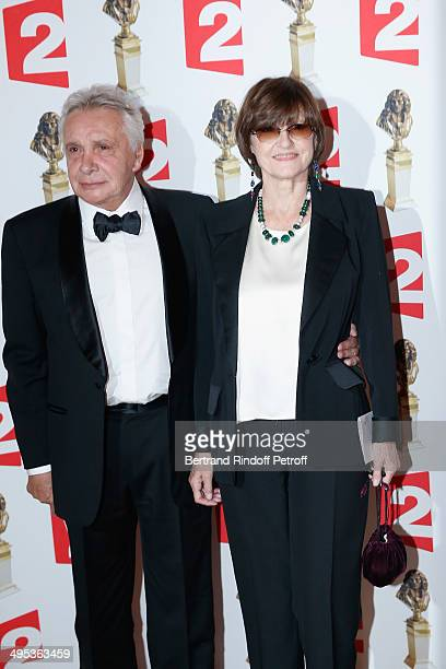 Michel Sardou and his wife AnneMarie Perier attend the 26th Molieres Awards Ceremony at Folies Bergere on June 2 2014 in Paris France