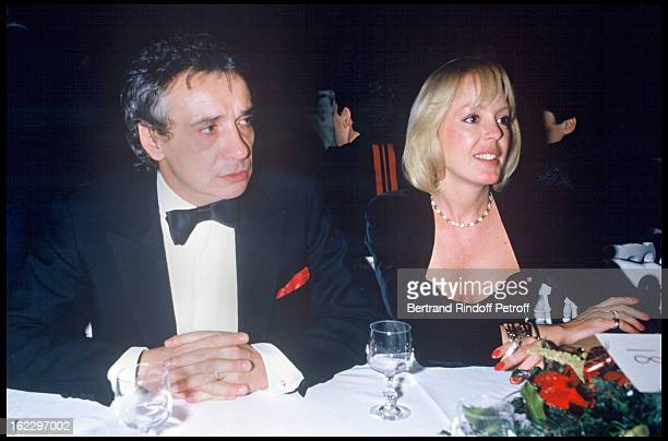 Michel Sardou and his wife Babette at the Victoires de la Musique French Music Awards Ceremony 1987
