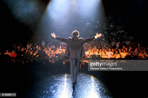 Michel Sardou Performing at the Palais des Congres