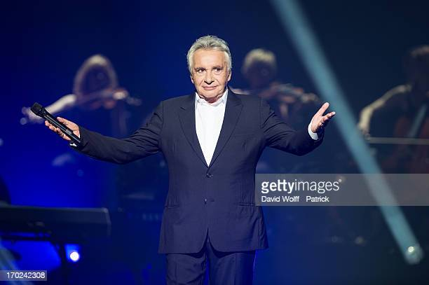 Michel Sardou performs at L'Olympia on June 9 2013 in Paris France