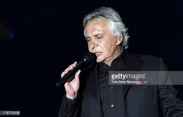 Michel Sardou performs at Palais Nikaia on May 5 2011 in Nice France