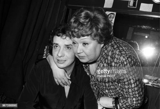 Michel Sardou with his mother Jackie.