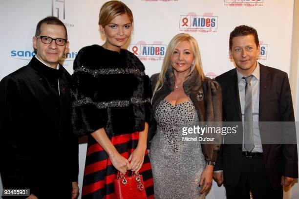 Michel Simon Lola Karimova Monica Baccardi and Bruno Spire attend the 25th anniversary dinner for ''AIDS International'' at Les BeauxArts de Paris on...