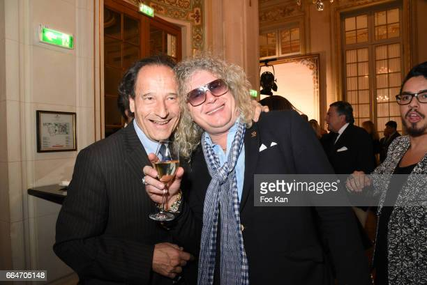 Michel Soyer and Napoleon Specialist Pierre Jean Chalencon attend the Chow Tai Fook Jewellry Show Hosted by Bonjour Brand Shangai at ShangriLa Iena...