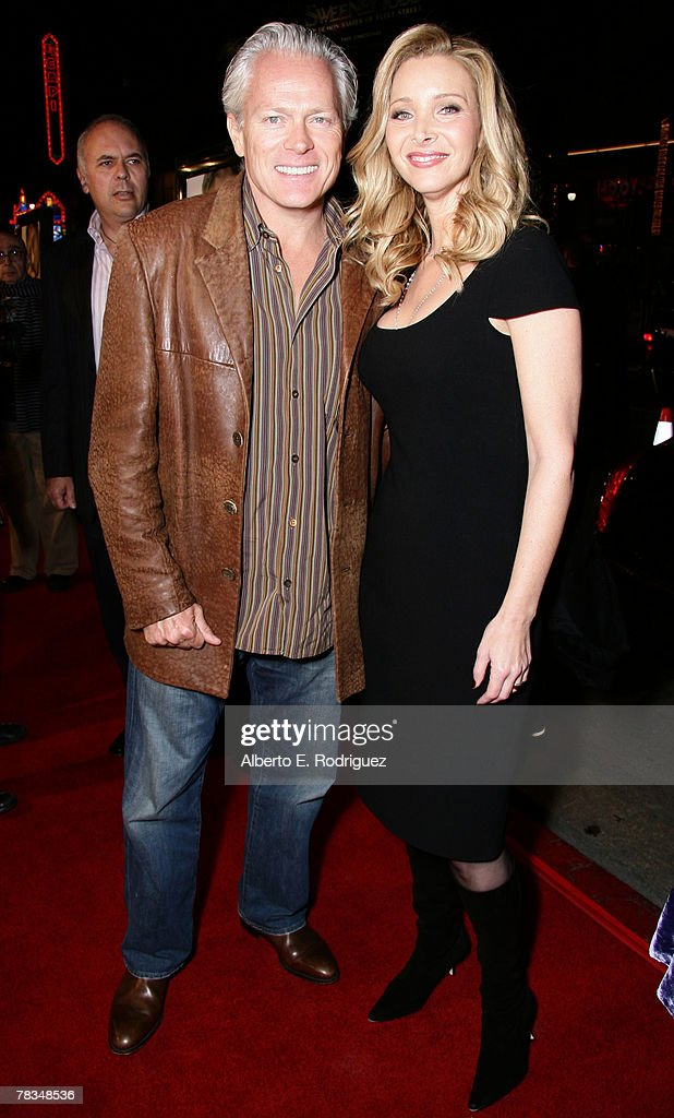 Michel Stern and actress Lisa Kudrow arrive at the premiere of Warner Bros.' 'P.S. I Love You' held at Grauman's Chinese Theater on December 9, 2007 in Los Angeles, California.