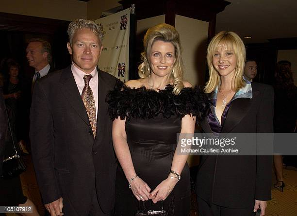Michel Stern Nancy Davis and Lisa Kudrow during The 10th Annual Race to Erase MS Inside at Century Plaza Hotel in Century City California United...