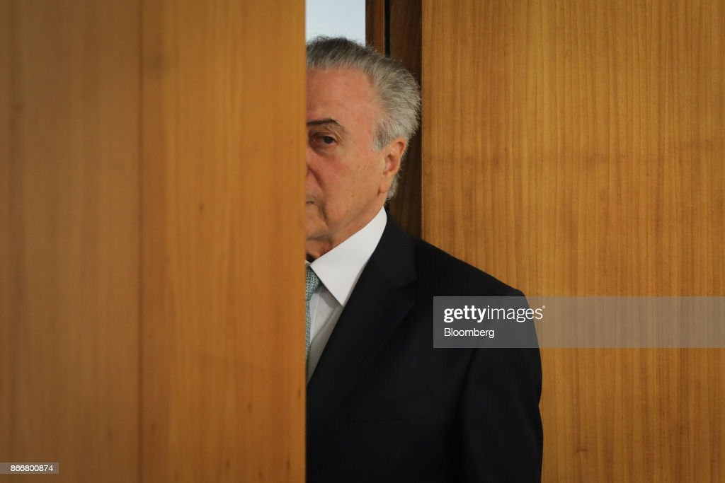President Temer Attends Event As He Escapes Corruption Trial Again : News Photo
