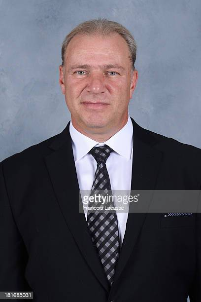 Michel Therrien of the Montreal Canadiens poses for his official headshot for the 20132014 season on September 11 2013 at the Bell Sports Complex in...