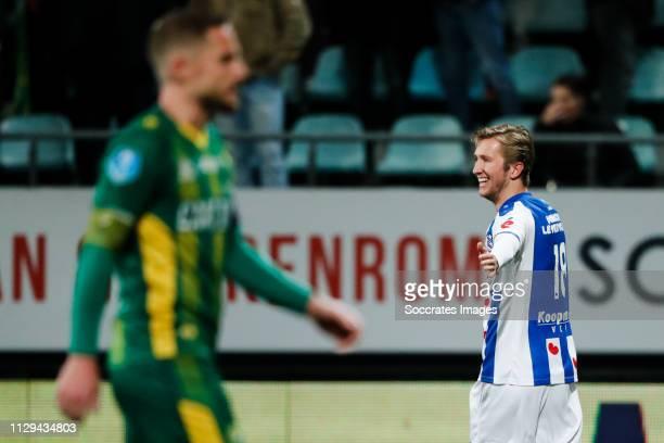 Michel Vlap of SC Heerenveen celebrate his goal the 01 during the Dutch Eredivisie match between ADO Den Haag v SC Heerenveen at the Cars Jeans...