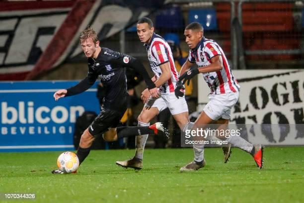 Michel Vlap of SC Heerenveen, Damil Dankerlui of Willem II, Driess Saddiki of Willem II during the Dutch Eredivisie match between Willem II v SC...