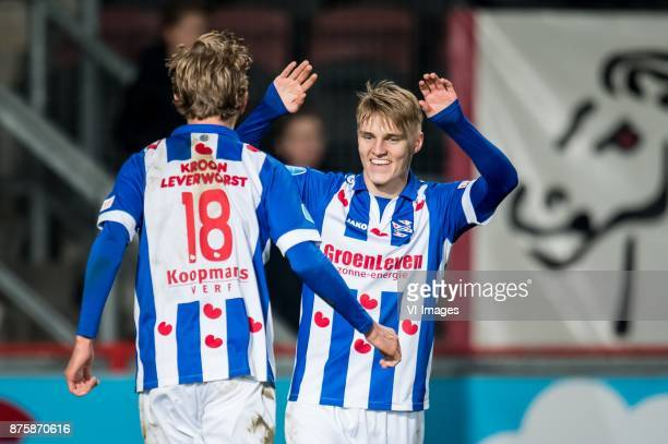 Michel Vlap of sc Heerenveen Martin Odegaard of sc Heerenveen 03 during the Dutch Eredivisie match between FC Twente Enschede and sc Heerenveen at...