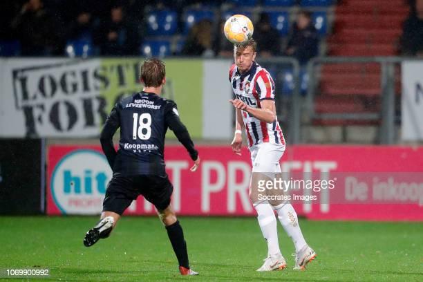 Michel Vlap of SC Heerenveen, Thomas Meissner of Willem II during the Dutch Eredivisie match between Willem II v SC Heerenveen at the Koning Willem...