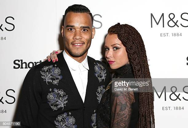 Michel Vorm and wife Daisy attend a reception hosted by Marks Spencer and ShortList Magazine to celebrate London Collections Men AW16 at Rosewood...