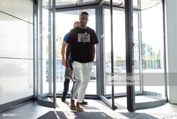 Michel Vorm of Tottenham Hotspur arrives for pre season training at Tottenham Hotspur Training Centre on July 9 2018 in Enfield England