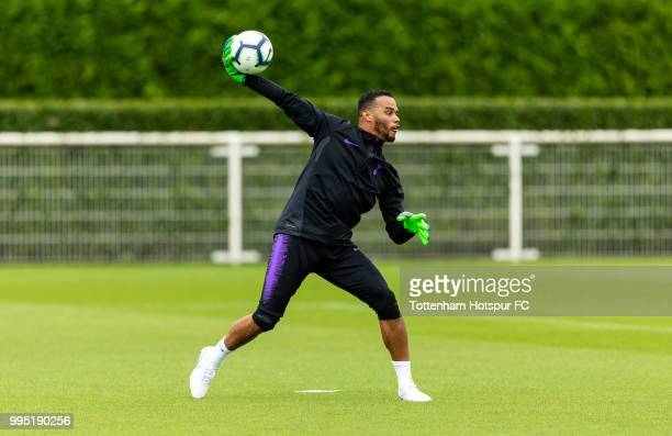 Michel Vorm of Tottenham Hotspur during pre season training at Tottenham Hotspur Training Centre on July 10 2018 in Enfield England