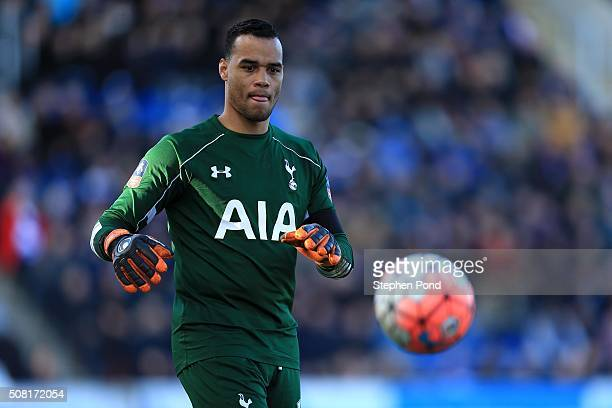Michel Vorm of Tottenham Hotspur during The Emirates FA Cup Fourth Round match between Colchester United and Tottenham Hotspur at the Colchester...