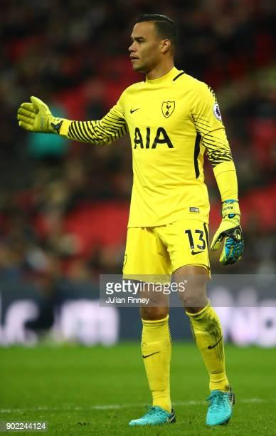 Michel Vorm of Tottenham Hotspur during The Emirates FA Cup Third Round match between Tottenham Hotspur and AFC Wimbledon at Wembley Stadium on...