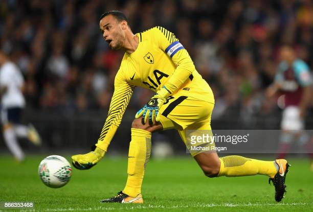 Michel Vorm of Tottenham Hotspur in action during the Carabao Cup Fourth Round match between Tottenham Hotspur and West Ham United at Wembley Stadium...