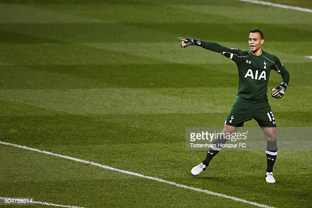 Michel Vorm of Tottenham Hotspur in action during the Emirates FA Cup third round match between Tottenham Hotspur and Leicester City at White Hart...