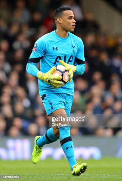 Michel Vorm of Tottenham Hotspur in action during The Emirates FA Cup Fifth Round match between Fulham and Tottenham Hotspur at Craven Cottage on...