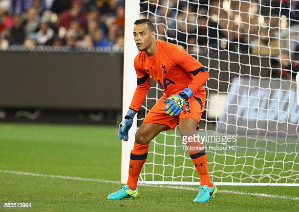 Michel Vorm of Tottenham Hotspur looks on during the 2016 International Champions Cup match between Juventus FC and Tottenham Hotspur at Melbourne...