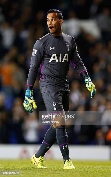Michel Vorm of Tottenham Hotspur looks on during the Capital One Cup third round match between Tottenham Hotspur and Nottingham Forest at White Hart...