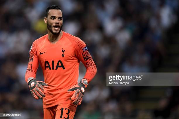 Michel Vorm of Tottenham Hotspur reacts during the UEFA Champions League football match between FC Internazionale and Tottenham Hotspur FC...