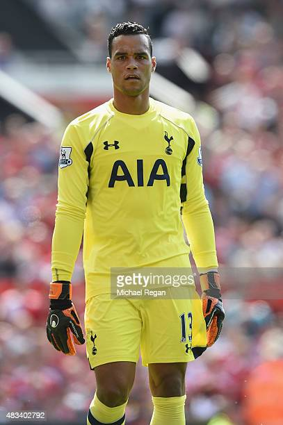 Michel Vorm of Tottenham looks on during the Barclays Premier League match between Manchester United and and Tottingham Hotspur at Old Trafford...