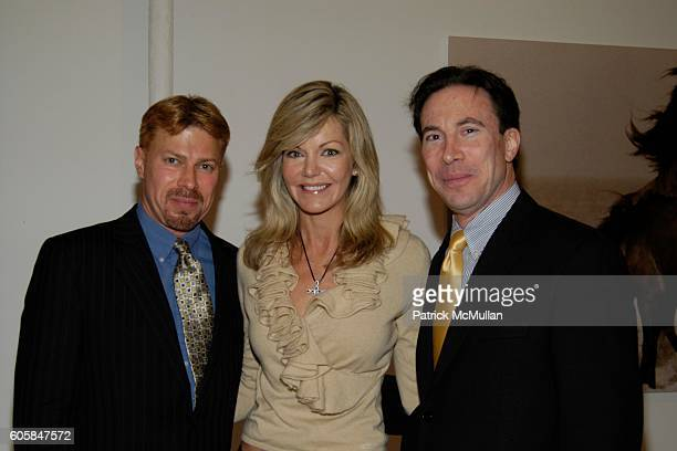 Michel Witmer Julie Hayek and Eric Berger attend Humane Society of New York Benefit Featuring a Viewing of ROBERTO DUTESCO Photographs at Dutesco...