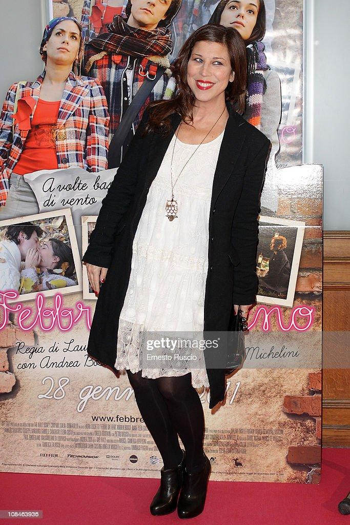 Michela Andreozzi attends the 'Febbre Da Fieno' premiere at Emassy Cinema on January 27, 2011 in Rome, Italy.